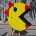 we ATE LACMA Fallen Fruit s Ms Pacman eats LACMA b