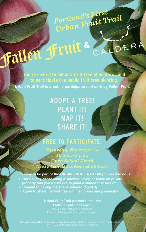 Fallen Fruit urban fruit trails