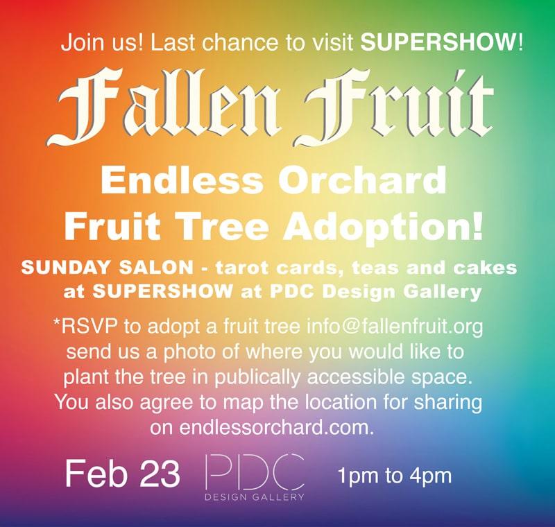 Sunday Salon And Endless Orchard Fruit Tree Adoption February 23 Fallen Fruit